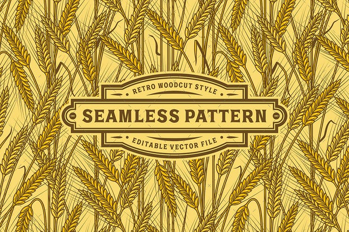 Thumbnail for Seamless Cereal Ears Pattern