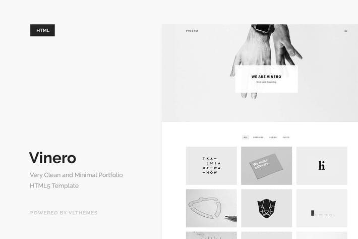 Thumbnail for Vinero - Very Clean and Minimal Portfolio Template