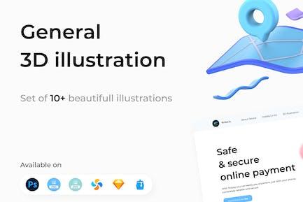 Общие 3D иллюстрации