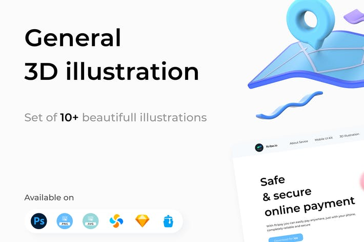 Thumbnail for General 3D Illustrations