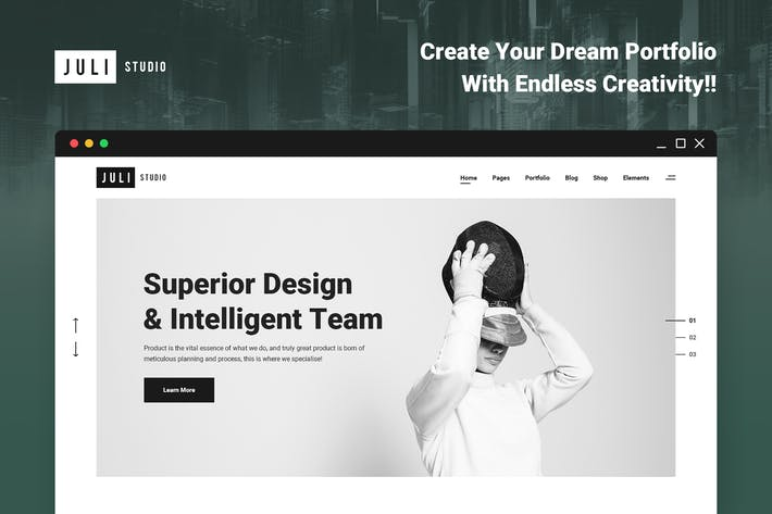Thumbnail for JuliStudio - Portfolio and Agency PSD Template