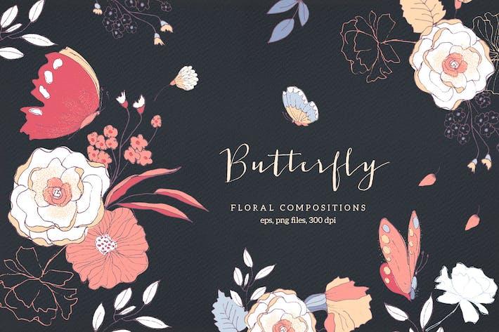Schmetterling - Blumenkompositionen