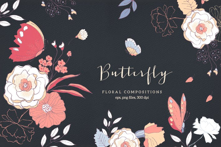 Thumbnail for Schmetterling - Blumenkompositionen