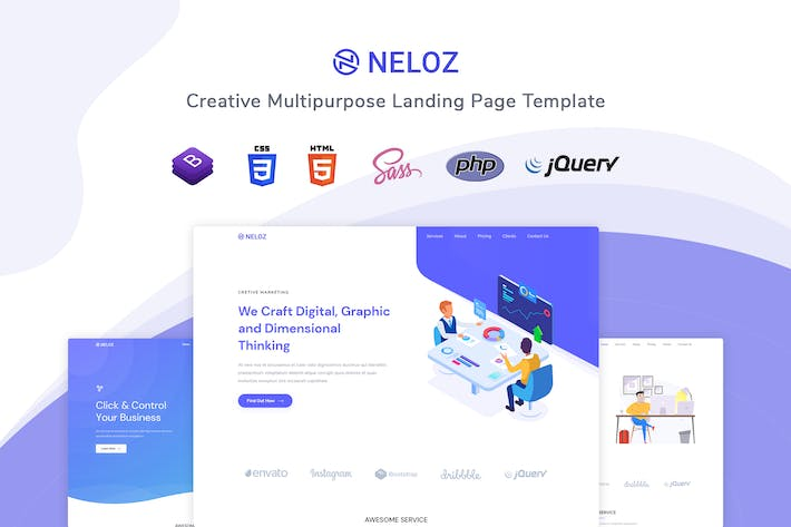 Thumbnail for Neloz - Landing Page Template