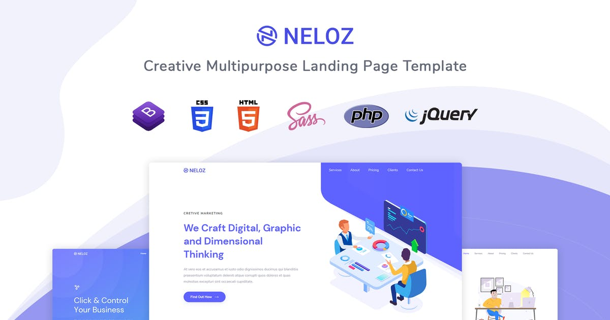Download Neloz - Landing Page Template by themesdesign