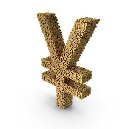 Símbolo Voxel Yen