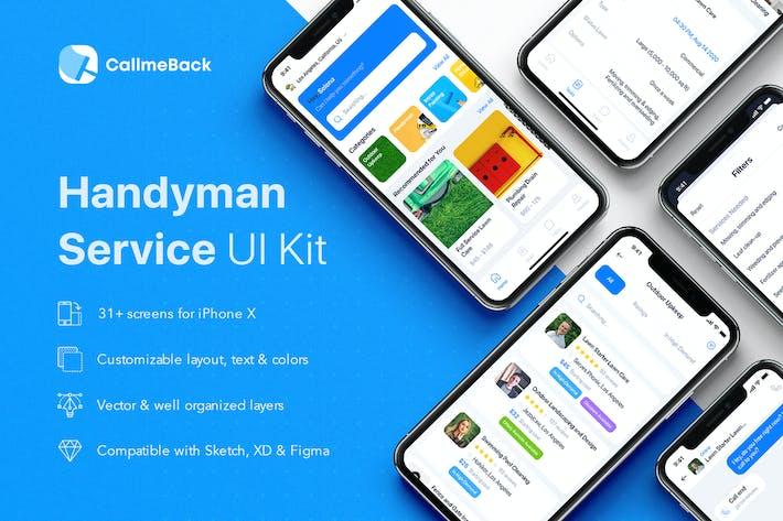 Thumbnail for CallmeBack - Handyman Service UI Kit