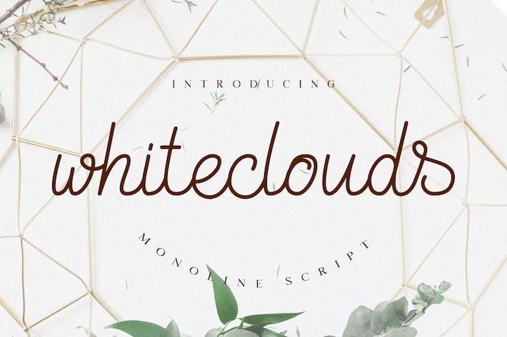 Thumbnail for Whiteclouds Monoline Script Font