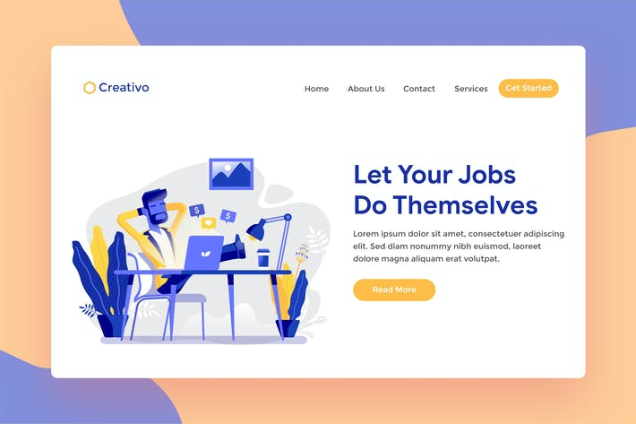 Thumbnail for Marketing Online Business Web Landing Page