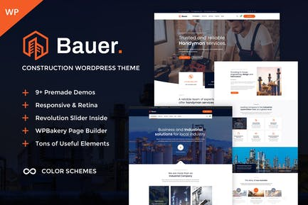 Bauer - Construction & Industrial WordPress Theme