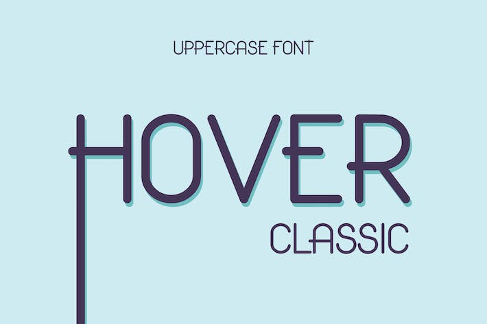Thumbnail for Hover Classic Uppercase Font