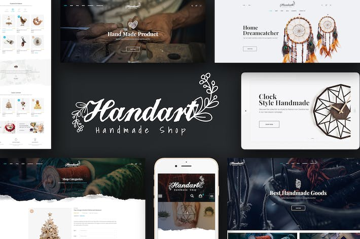 Thumbnail for HandArt - Magento Theme for Handmade Artists