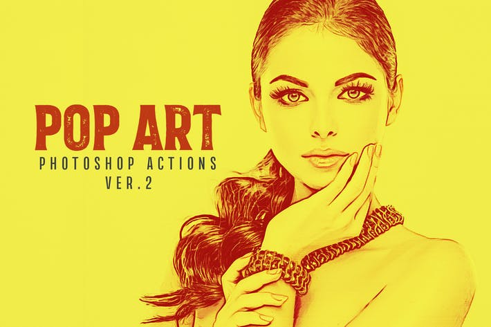 Thumbnail for 20 Pop Art Photoshop Actions Ver. 2