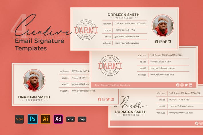 Thumbnail for Creative Email Signature V04
