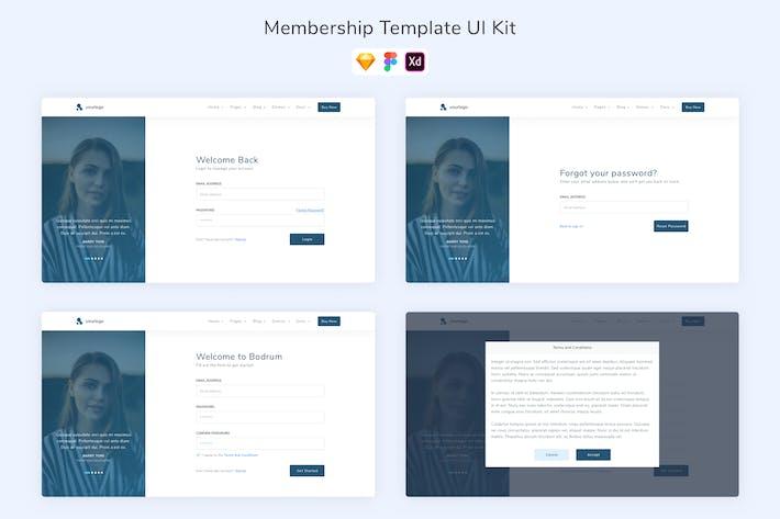Thumbnail for Benutzeroberflächen-Kit für Mitgliedschaftsvorlagen
