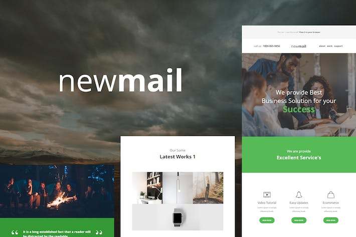 Thumbnail for newmail - Responsive E-mail Template