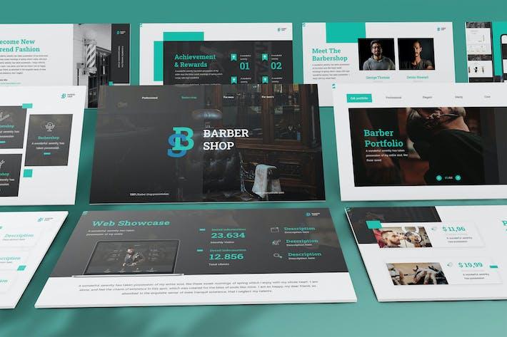 BarberShop - Элегантный шаблон Keynote
