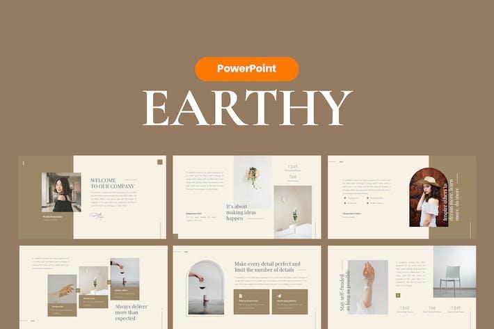 Земляной элегантный шаблон PowerPoint