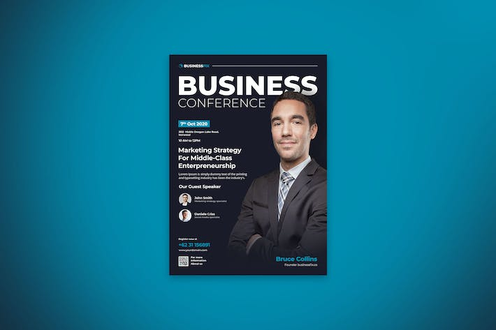 Thumbnail for Business Conference Flyer Template Vol.5