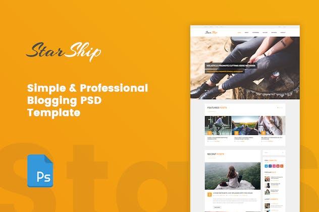 StarShip - Simple Blogging PSD Template