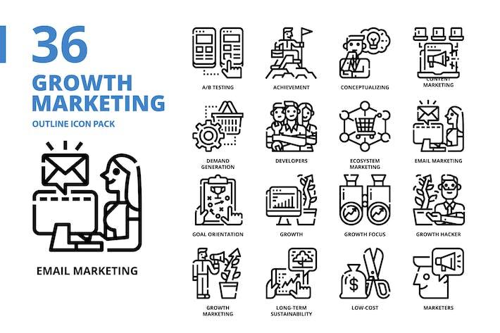 Thumbnail for Wachstumsmarketing-Gliederung Stil Icon