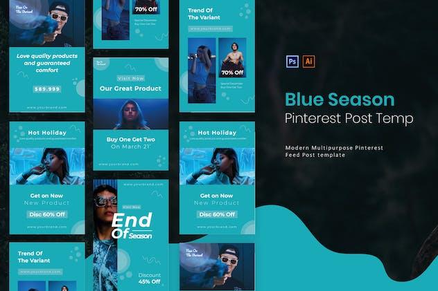 Blue Season | Pinterest Post Template