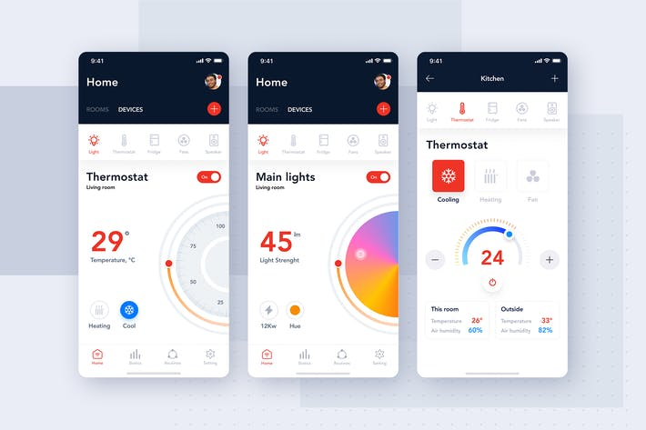 Thumbnail for Best Smart Home App UI concept