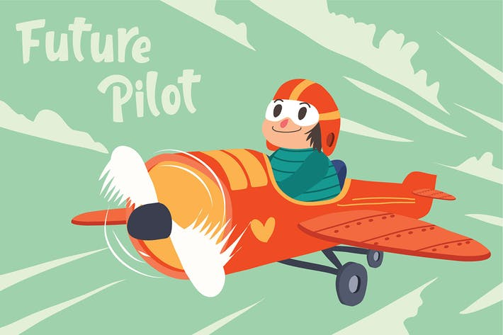 Thumbnail for Future Pilot - Vector Illustration