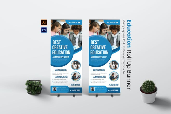 Best Education Roll Up Banner