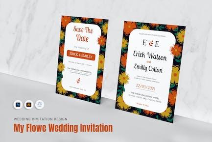 My Flowe Wedding Invitation