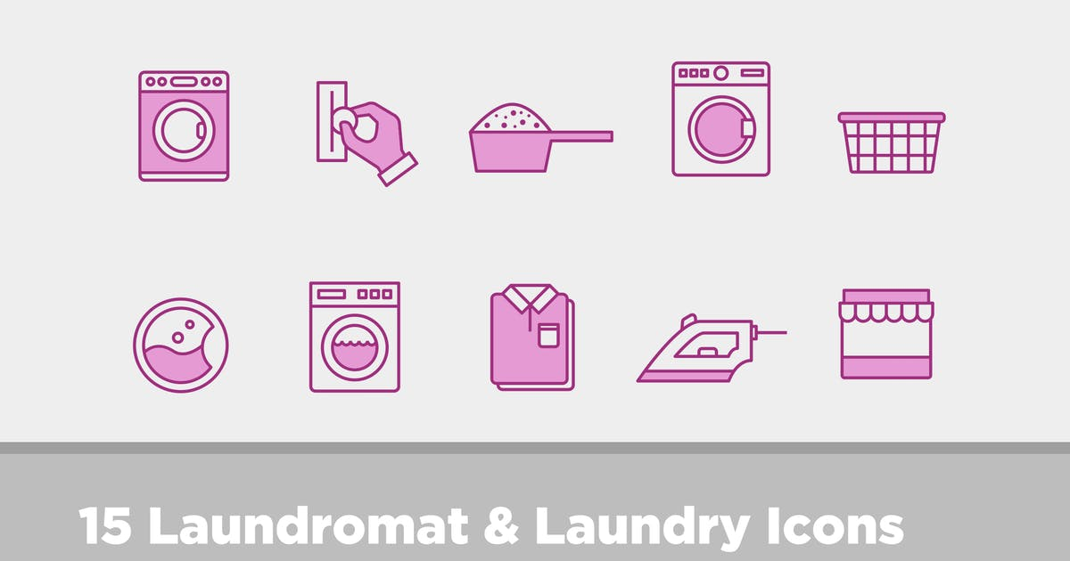 Download 15 Laundry & Laundromat Icons by creativevip