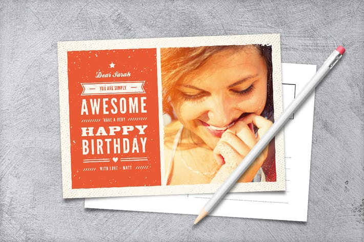 Thumbnail for Grunge Vintage Birthday Card
