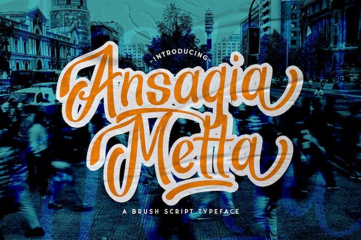 Thumbnail for Ansagia Metta - Fuente de guión en negrita