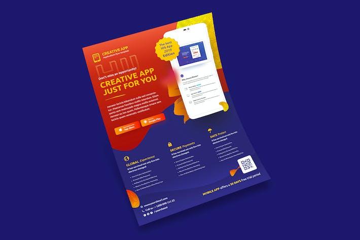 Thumbnail for Mobile Application Flyer