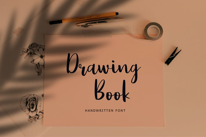 Thumbnail for Drawing Book Modern Brush Script Font
