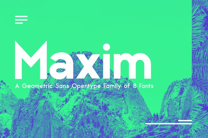 Thumbnail for Maximus Sans - A Geometric Sans family of 8 Fonts