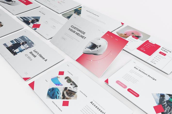 Helmet Shop Google Slides Template