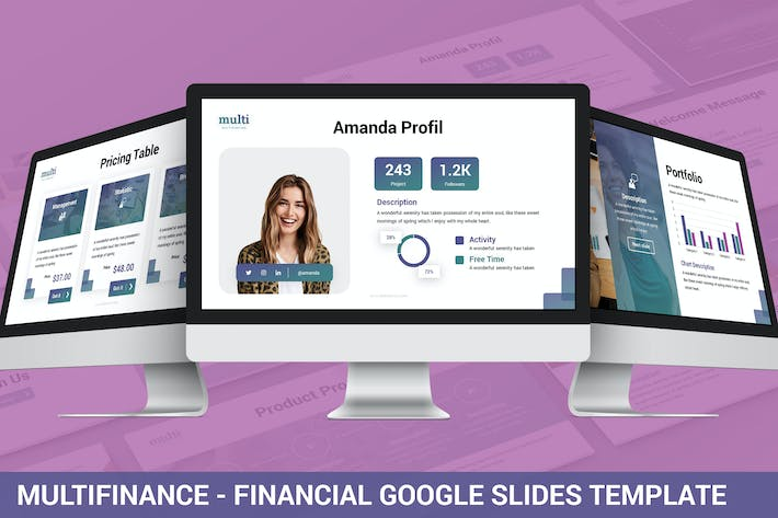 Thumbnail for MultiFinance - Financial Google Slides Template
