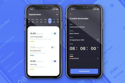 Alarm & Reminder Screen Design Concept