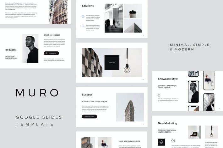 Thumbnail for MURO - Google Slides Minimal Template