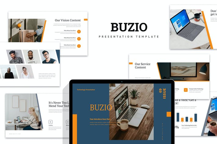 Thumbnail for Buzio : Tech Business Google Slides