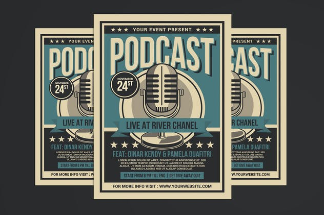 Podcast Live Flyer