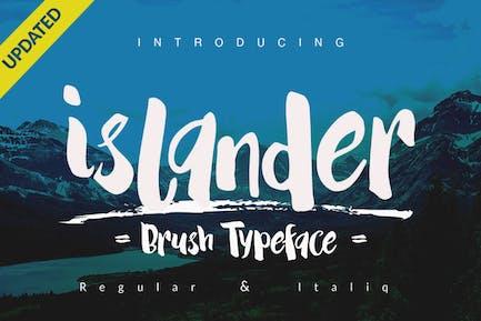 Islander Font Brush logotype