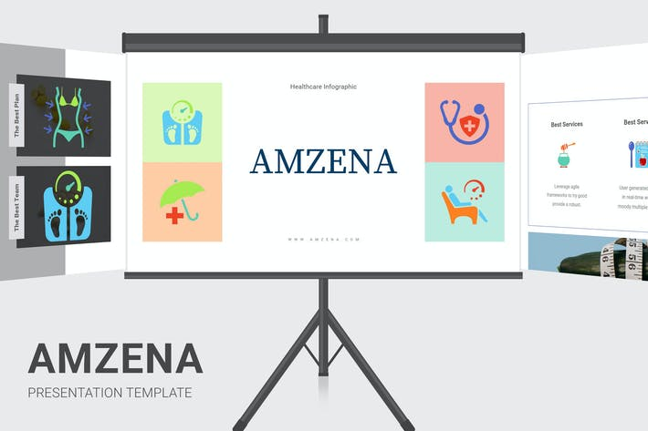 Amzena - Healthcare Infographic Google Slides