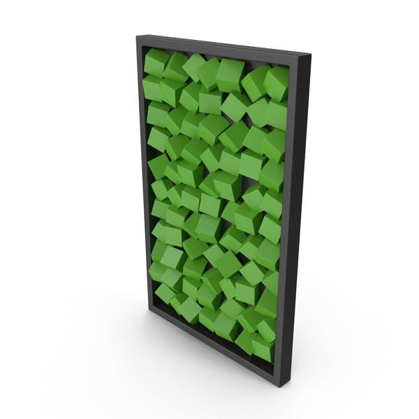 Moderno Wood Wall Art - Arte de pared, color verde