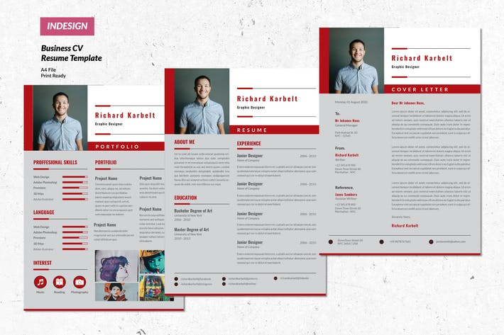 Thumbnail for Business Creative Resume  Vol. 16