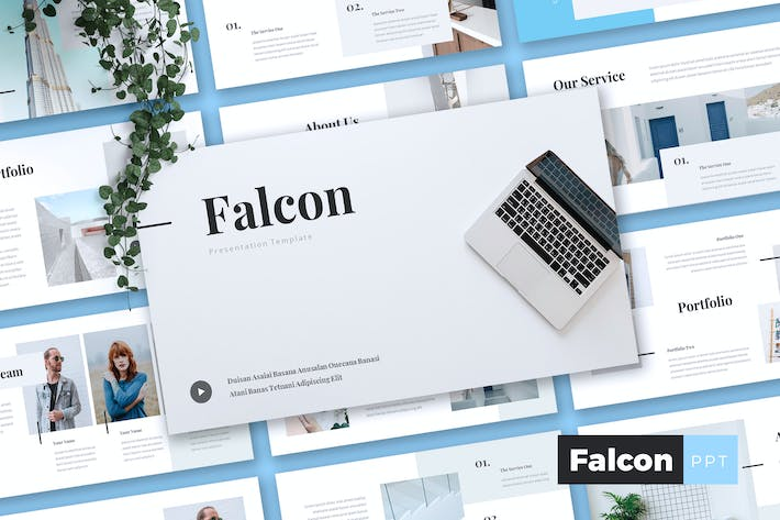Cover Image For FALCON - Company Profile Powerpoint Template