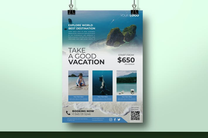Thumbnail for Creative Travel flyer Template