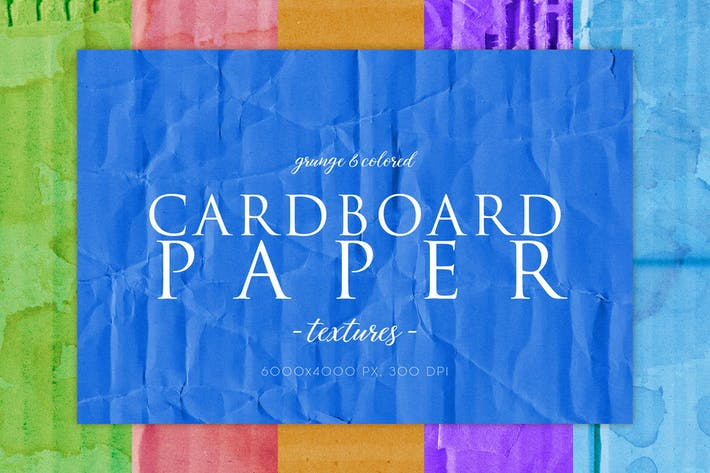 Thumbnail for 15 Colorful Cardboard Textures