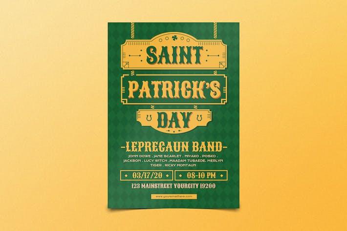 dépliant Saint-Patrick